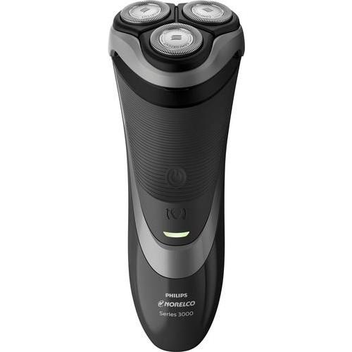 Philips Norelco - Series 3000 Wet/Dry Electric Shaver - Precision Black/Black Metallic Chrome