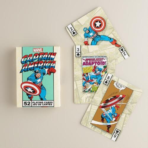 Captain America Superhero Playing Cards