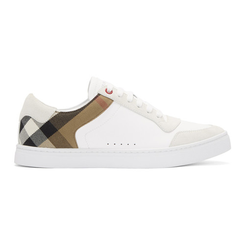 BURBERRY White Reeth Sneakers
