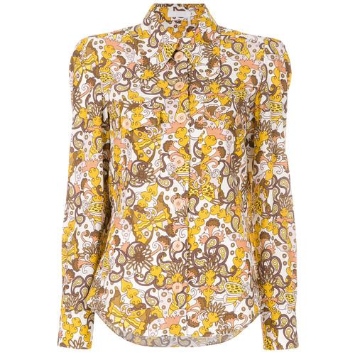 retro printed blouse