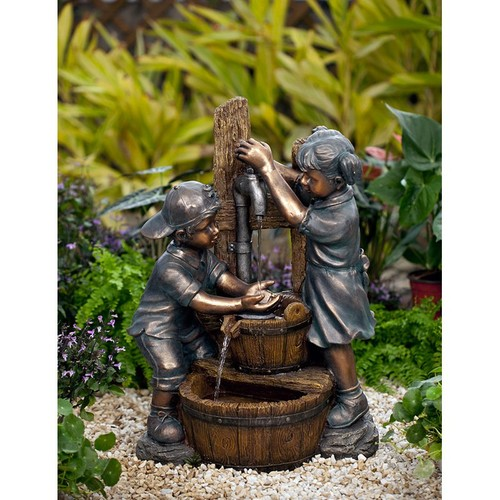 Jeco Kids Playing Indoor / Outdoor Water Fountain