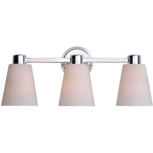 Kenroy Home Scarsdale 3-Light Vanity, Polished Nickel
