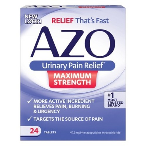 AZO Urinary Pain Relief Maximum Strength Tablets - 24 Count