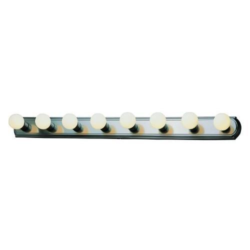 Trans Globe Lighting 3248 ROB 8-Light Basic Strip Vanity Light, Rubbed Oil Bronze [Oil-rubbed Bronze]