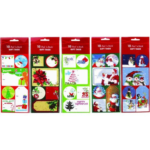 Berwick Offray Assorted Peel And Stick Gift Tags - 972255