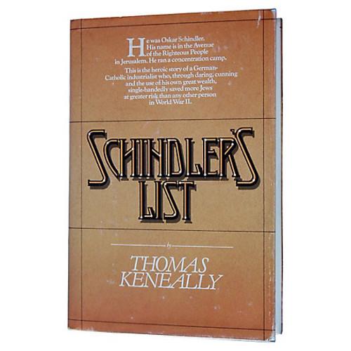 christopher de lotbinire's rare books Schindler's List, First Printing