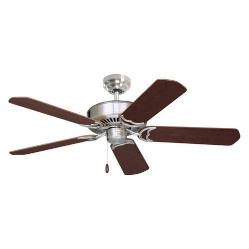 Emerson Ceiling Fans CF755BS Designer 52-Inch Energy Star Ceiling Fan, Light Kit Adaptable, Brushed Steel Finish [Brushed Steel]