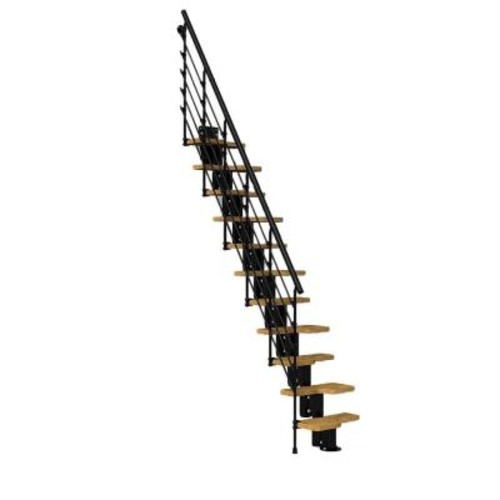 Arke Oak30.Xtra 22 in. Black Modular Staircase Kit
