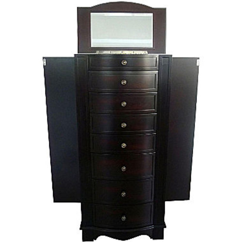 Mele & Co. Chelsea Wooden Jewelry Armoire (Dark Walnut Finish)