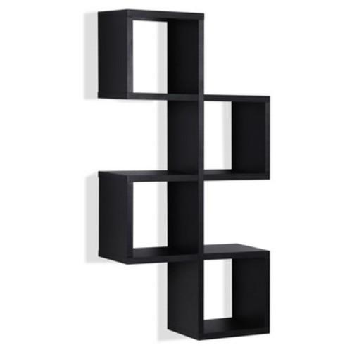 Cubby Chessboard Wall Shelf - Black - Danya B.