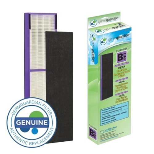 GermGuardian FLT4850PT True HEPA with Pet Pure Treatment GENUINE Replacement Filter B for AC4300/AC4800/4900 Series Air Purifiers