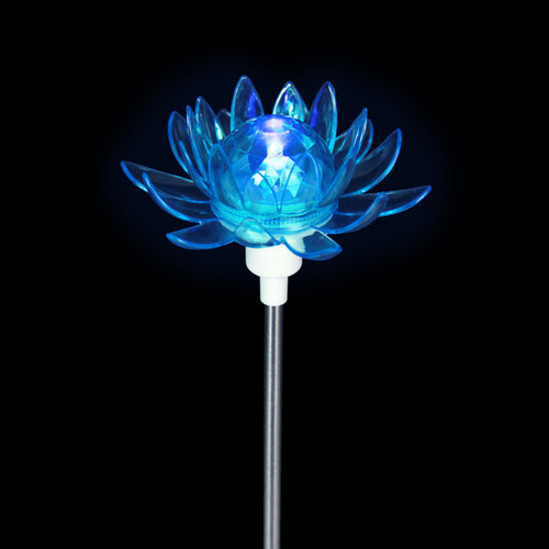 Solar Rotating Flower Garden Stakes (Set of 4)