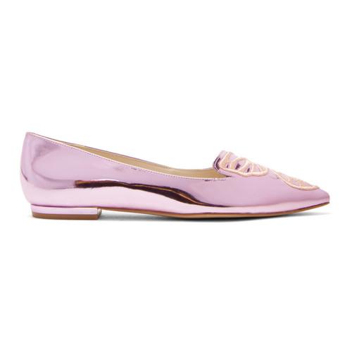 Pink Metallic Bibi Butterfly Flats