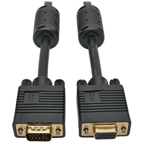 Tripp Lite P500-003 VGA Coax High-Resolution Monitor Extension Cable, 3ft, Black