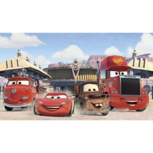 RoomMates 72 in. x 126 in. Disney Cars Friends to the Finish XL Chair Rail Pre-Pasted Wall Mural