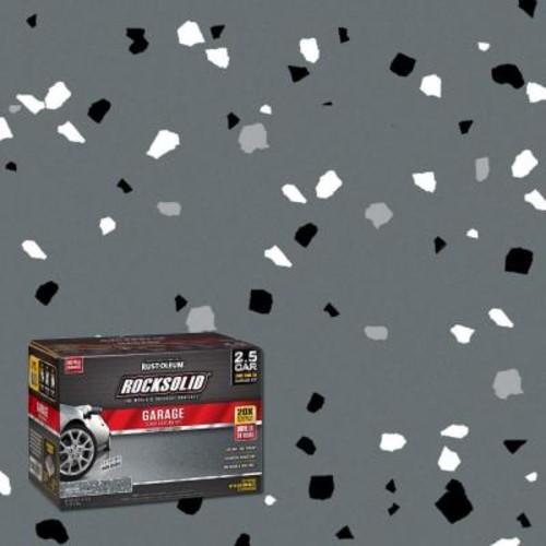Rust-Oleum RockSolid 152 oz. Dark Gray Polycuramine 2.5 Car Garage Floor Kit