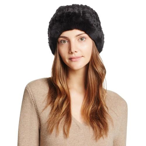 Rabbit Fur Slouch Hat