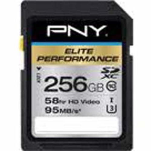 PNY Elite Performance 256 GB High Speed SDXC Class 10 UHS-I, U3 up to 95 MB/Sec Flash Card (P-SDX256U395-GE)