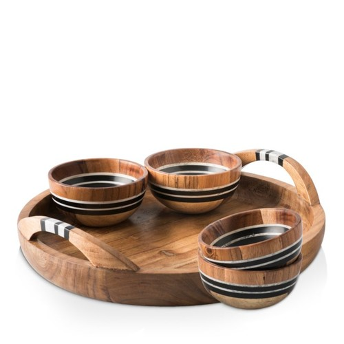 Stonewood Stripe 5-Piece Serving Set