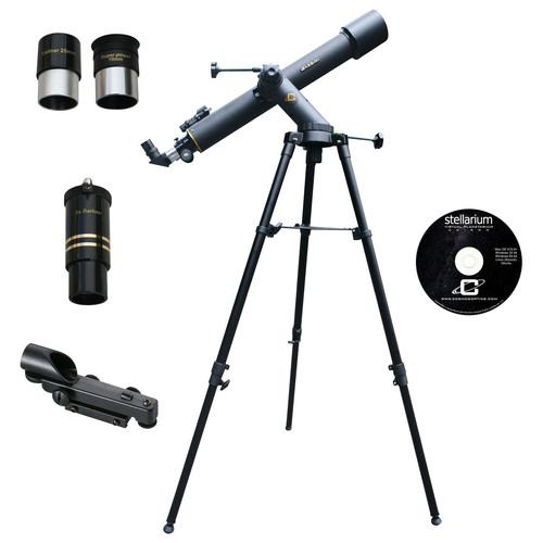 Cassini - Tracker Series 72mm Refractor Telescope - Black