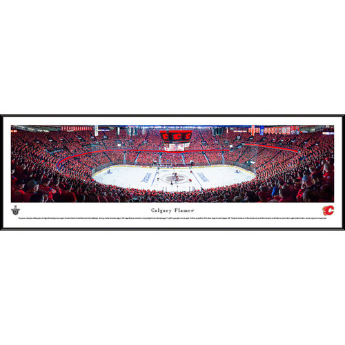 Blakeway Panoramas Calgary Flames Framed NHL Print [option : Deluxe Frame with Double Mat]