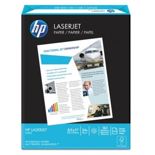 HP 115300 LaserJet Paper, Ultra White, 97 Bright, 24lb, Letter (Case of 2500 Sheets)