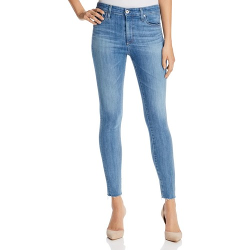 AG Farrah Raw Hem Skinny Ankle Jeans In Ceased Wind