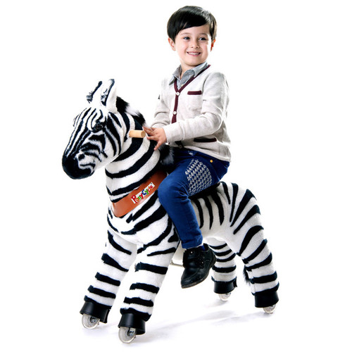 Merske Bicycles, Ride-On Toys & Scooters Vroom Rider PonyCycle Ride-On Zebra [option : Small: 3-5 yrs