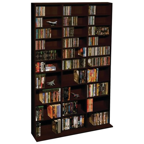 Atlantic Adustable Media Storage & Organization Product, Espresso (38435714)