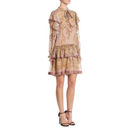 Silk Tie Neck Dress