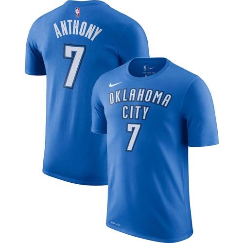 Nike Youth Oklahoma City Thunder Carmelo Anthony #7 Dri-FIT Blue T-Shirt