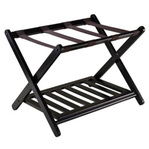 Winsome Trading Reese Luggage Rack in Espresso