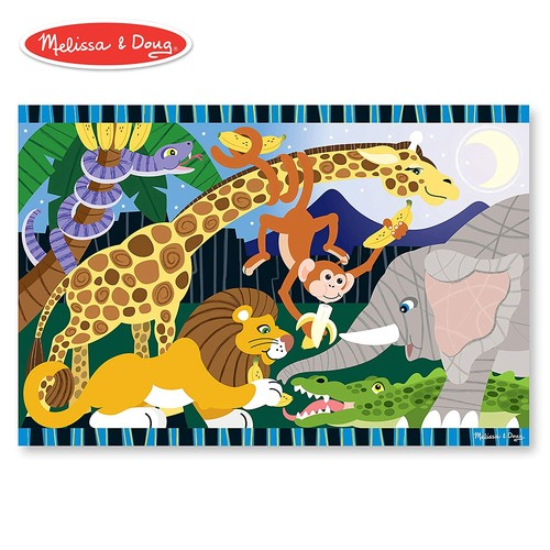 Melissa & Doug Safari Social Jumbo Jigsaw Floor Puzzle