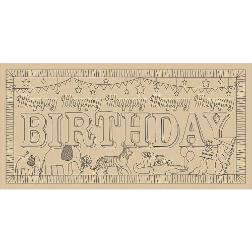 Lullubee Giant Coloring Mural Book - Birthday Parade