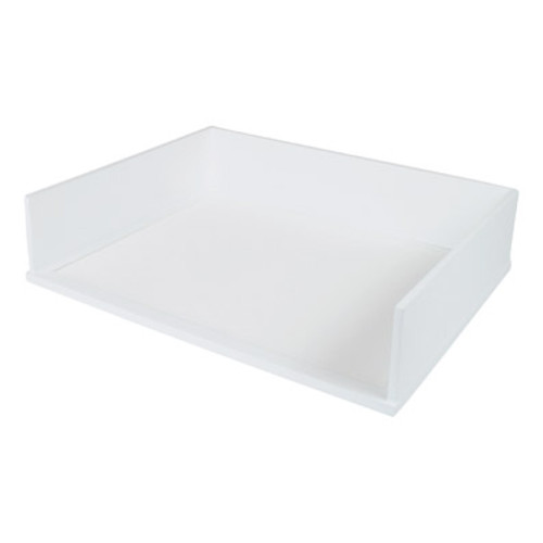 Victor Wood Pure White Collection Stacking Letter Tray, W1154
