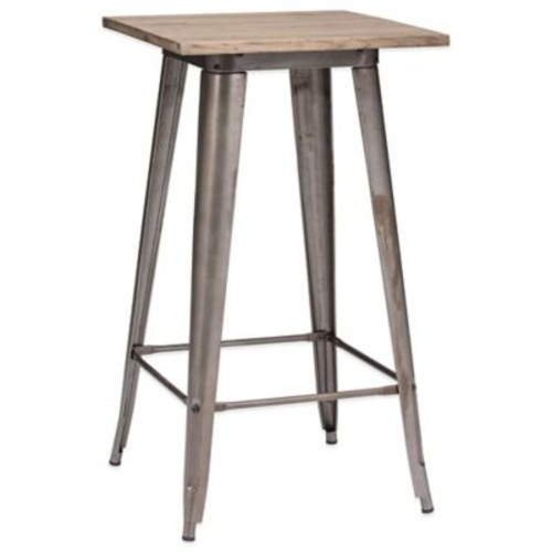 Zuo Titus Rustic Wood Bar Table