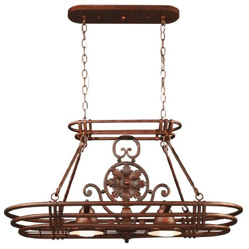 Kenroy Home 90304GC Dorada 2 Light Pot Rack, Gilded Copper Finish [Gilded Copper Finish]