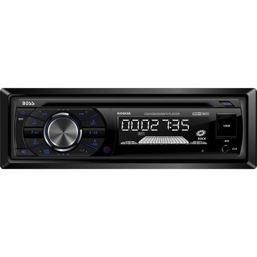 Boss - Car CD/MP3 Player - iPod/iPhone Compatible - Single DIN - Black