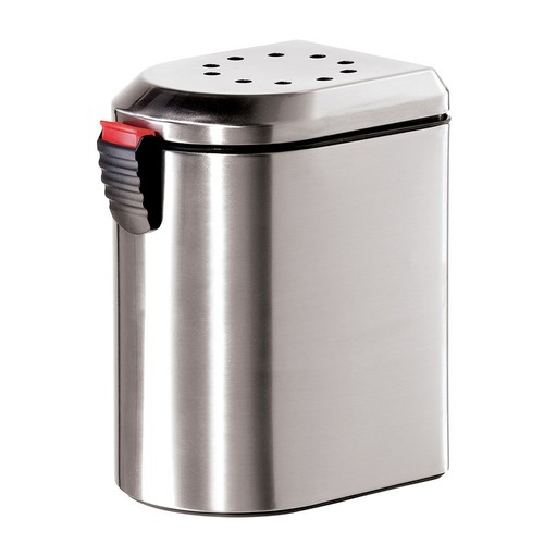 Oggi 7289.0 Deluxe Stainless Steel Countertop Compost Pail with EZ-Open Lid and Charcoal Filter