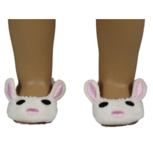 The Queen's Treasures Plush Bunny Slipper fits 18