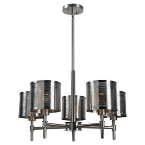 Kenroy Home Mesha 5-Light Chandelier in Brushed Steel