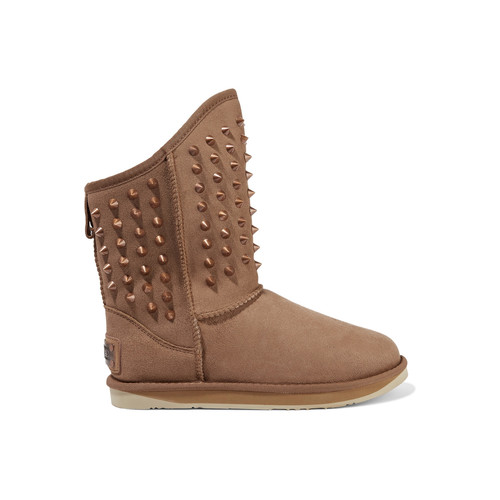PISTOL STUDDED SHEARLING BOOTS