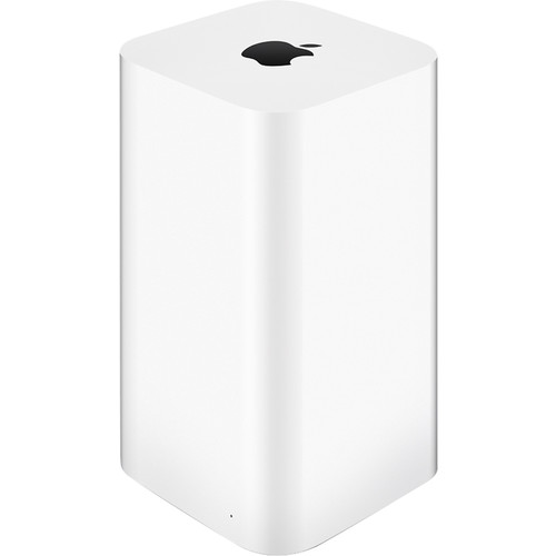 Apple - Geek Squad Certified Refurbished AirPort Time Capsule 3TB Wireless Hard Drive & 802.11ac Wi-Fi Base Station - White