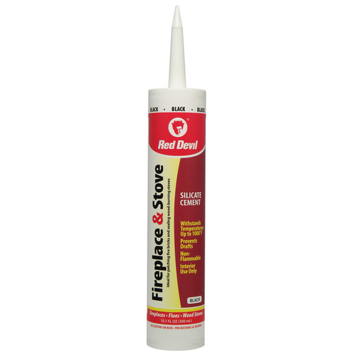 Red Devil 0466 10.1 Oz Black Fireplace & Stove Repair Cartridge