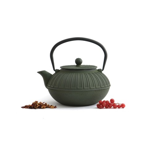 BergHOFF Studio Dark Green Cast Iron 1.6-quart Teapot