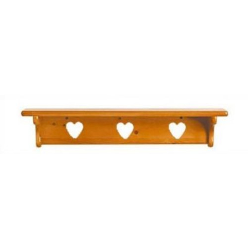 Little Colorado Heart Cutout Wall Shelf; White