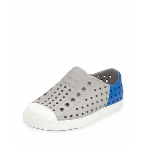 Jefferson Waterproof Colorblock Low-Top Shoe, Gray/Blue, Youth