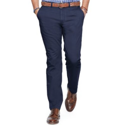 Big and Tall Classic-Fit Flat-Front Chino Pants