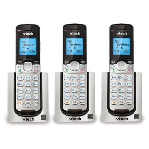 VTech DS6071 2 Line Cordless Accessory Handset DECT 6.0 Tech w/ HD Voice Clarity (3 Pack)