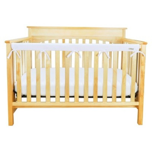 Long Narrow White CribWrap